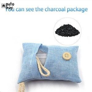 Image 5 - Sac de charbon de bambou à usage de voiture sac de charbon actif purificateur dair désodorisant de voiture absorbant les odeurs de formaldéhyde