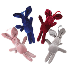 Mini Plush Toy Doll Velvet  Rabbit Cute Pendant Bag Accessories Valentines Day Gift Bouquet Dolls 17cm