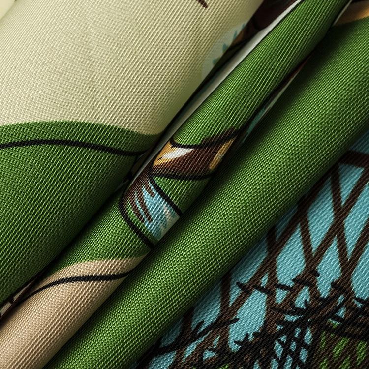 POBING Luxury Brand 100% Twill Silk Scarf Woman Swift Horse Wraps - Apparel Accessories - Photo 3