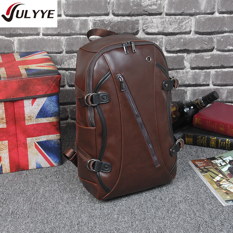 JULYYE Bag Factory Store YULYYE The New Large Capacity Travel Backpacks High Quality Fashion Multifunction School Backpack Vintage Computer Leather Bag