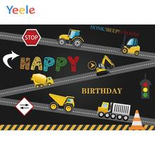 Yeele Happy Birthday Wallpaper Traffic mode Toy Car Photography Backdrops Personalized Photographic Backgrounds For Photo Studio