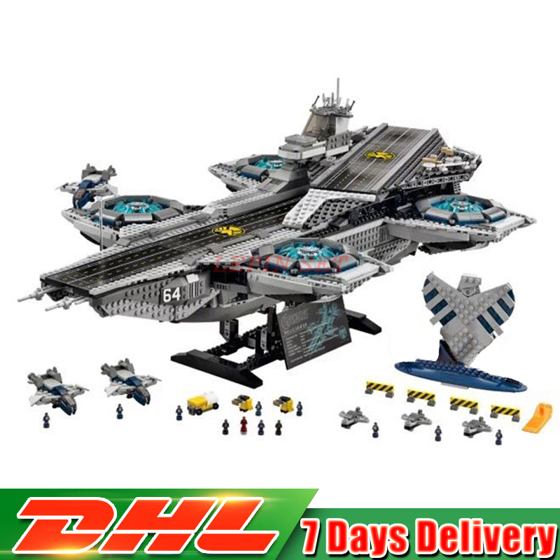 IN Stock Lepin 07043 Super Heroes The Shield Helicarrier Model Building Kits Blocks Bricks Toys Compatible 76042 Children Gift lepin 07043 3057pcs super heroes the shield helicarrier model building blocks bricks toys compatible 76042 for children