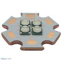 5pcs/lot 3V / 6V / 12V Epileds 3535 4Chips 4 18W Cyan Color High Power LED Emitter 490nm with 20mm Copper PCB