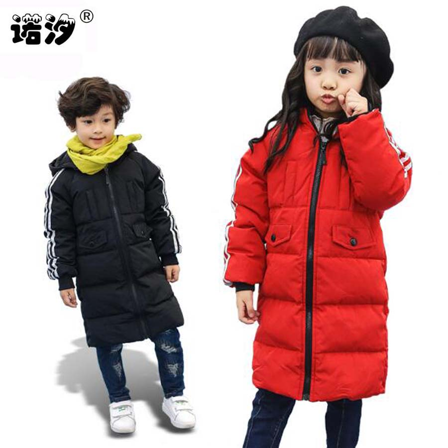 Children winter jacket 2017 long style thicken down jacket for boys warm children clothing boys outwear coat kinds winter jacket носки nike носки u nk strk merc crew