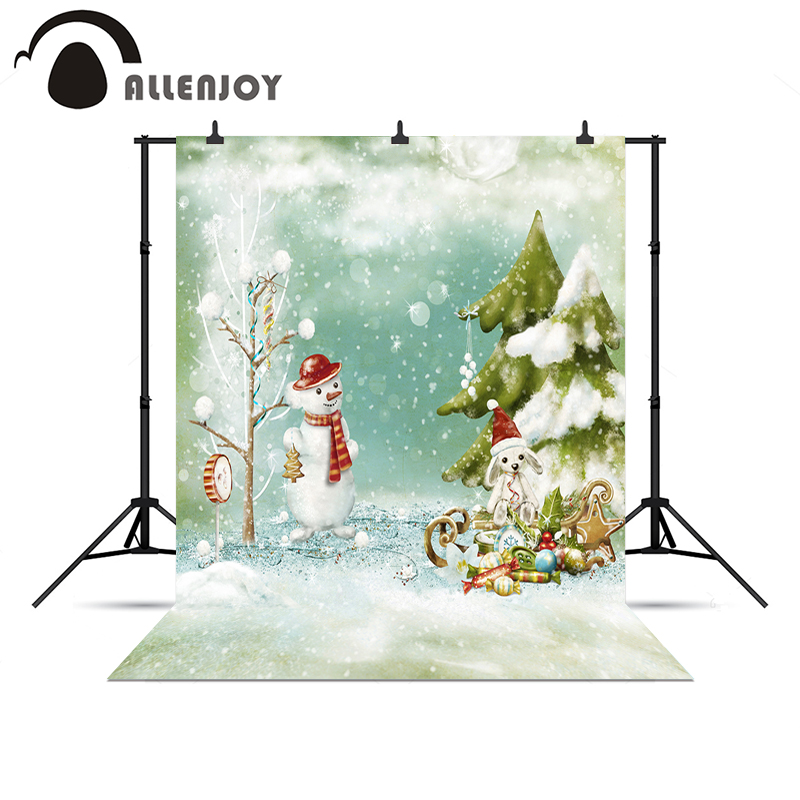 allenjoy background for photo shoots sled snowmobile snowman pine new year decorations backgrounds for photo studio new year in background from consumer