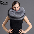 Real Fox Fur Scarves Women Winter Natural Animal Fox Fur Neck Warming Collar Warmed Elegant Russian Fashion Elegant Woman Scarf