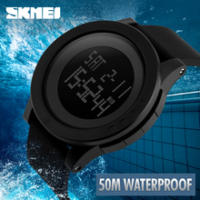 SKMEI Men Watch Military Sport Watches Fashion Silicone Waterproof LED Digital Watch For Men Luxury Clock Relogio Masculino 1142 skmei brand men s fashion sport watches chrono countdown men waterproof digital watch man military clock relogio masculino