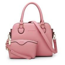 Fashion Solid Women Handbag High Quality Pu Leather Shoulder Crossbody Messenger Bags Blue Zipper Composite Bag Soft Clutch m671