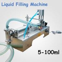 5 100ml Pneumatic Liquid Filling Machine Semi Automatic Filling Shampoo Perfume Beverage Packer SS304