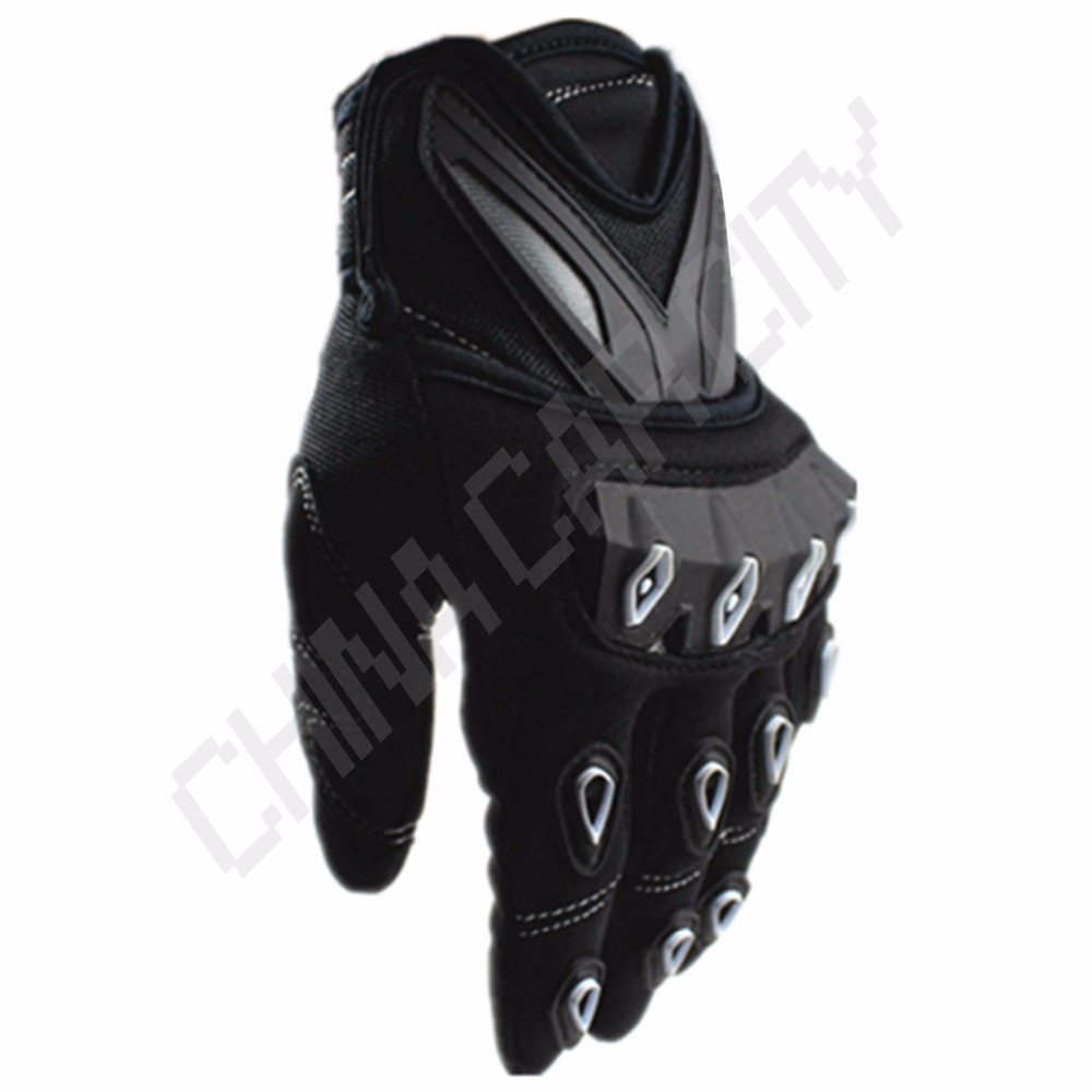 Buy leather gauntlet gloves - Motorcycle Motocross Golf Cycling Gloves Leather Winter Warm Waterproof Gloves Joints Hand Back Palm Protective Gauntlets