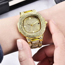Mens Hip Hop Iced Out Watches Luxury Date Quartz Wrist Watches With Micropave CZ Stainless Steel Watch For Women Men Jewelry цена и фото