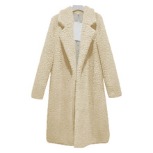 Newly Women Lady Top Coat Long Sleeve Warm Lapel Fashion Medium Length Solid Color For Winter VK-ING