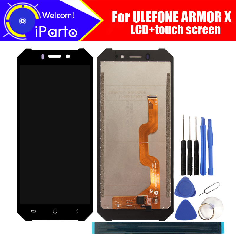 5.5 inch ULEFONE ARMOR X LCD Display+Touch Screen Digitizer Assembly 100% Original New LCD+Touch Digitizer for ARMOR X +Tools