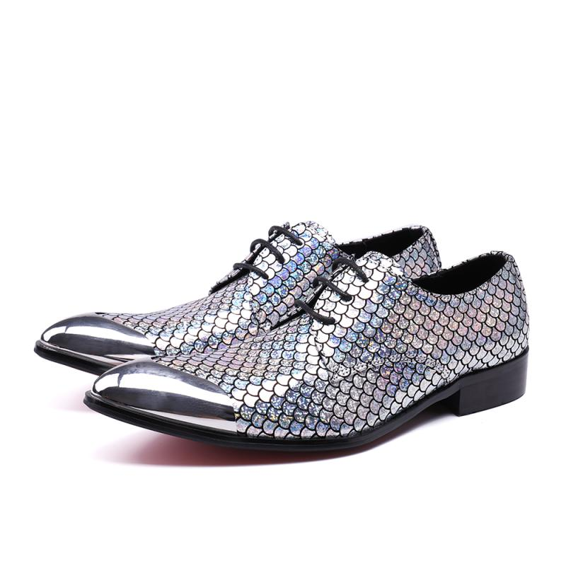 New Imitate Men's Sequin Oxford Shoes Lace up Casual Business Pointed Toes Patchwork Shoes Med heel Male Dress Boat Shoes Sliver sequin embroidered zip up jacket