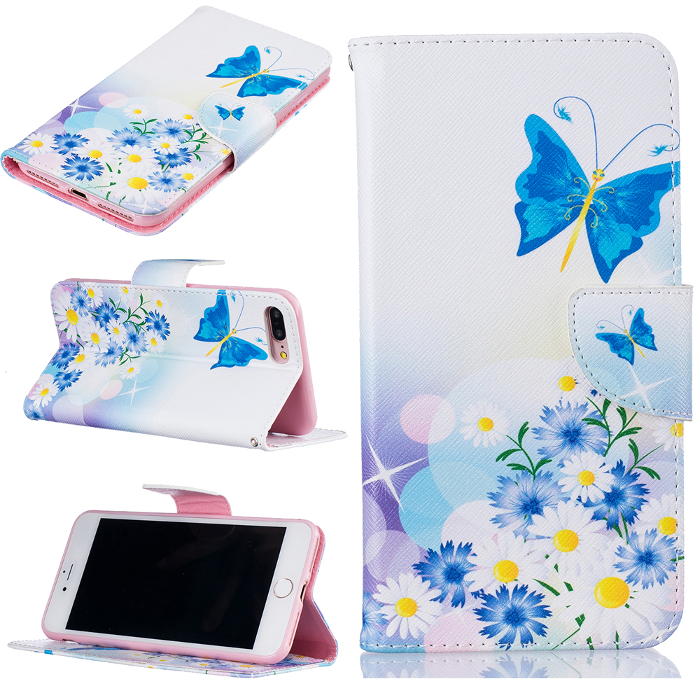 Mobile Phone Case for iPhone 8 Cover PU Leather Dirt-Resistant Wallet Flip Cases for iPhone 7 cover