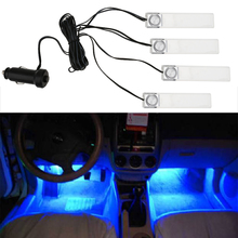 4 in1 LED Car Interior Floor Blue Lights Colors