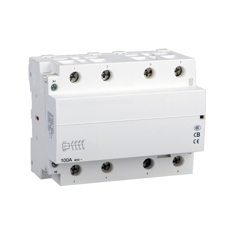 Modular household AC contactor for automobile charging pile 4NO WCT-100A 4P O+F 220V/230V modular charging pile with gm wct tc01v8