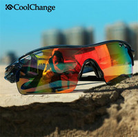 COOLCHANGE Bike Glasses Mountain Bike Road Vehicle Outdoor Sport Riding Glasses 5 Lens Mounted Polarizing Glasses