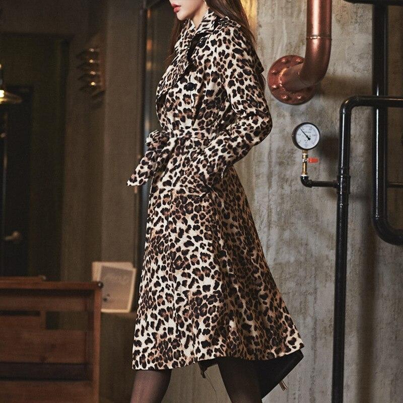 down Dames Printemps Robes Plus Photo Femmes ligne Longues A Leopard Collar La Casual Robe Color 2019 Manches Club Turn Vintage Taille 54qALRjc3