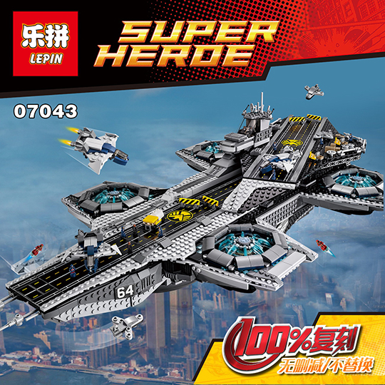 Lepin 07043 Super Heroes The Shield Helicarrier Model Building Kits Blocks Bricks Toys Compatible 76042 for kids gift toys lepin 07043 3057pcs super heroes the shield helicarrier model building blocks bricks toys compatible 76042 for children