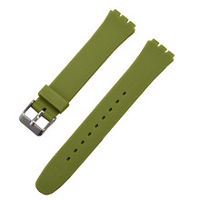Different Colors Silicone Watch Band Strap For SWATCH 12mm 17mm 19mm Men Women WATCHBAND