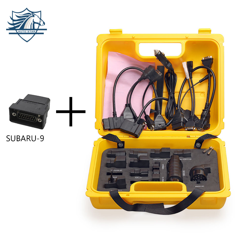 21Pcs Launch X431 DIAGUN IV Connector Adaptor Cables For X431 Idiag Easydiag Mdiag Old Car Model Yellow Box SUBARU-9 Free Gift 2017 new launch x431 easydiag 2 0 obd2 bluetooth adapter original launch easydiag free diagnostic cable for android ios as gift