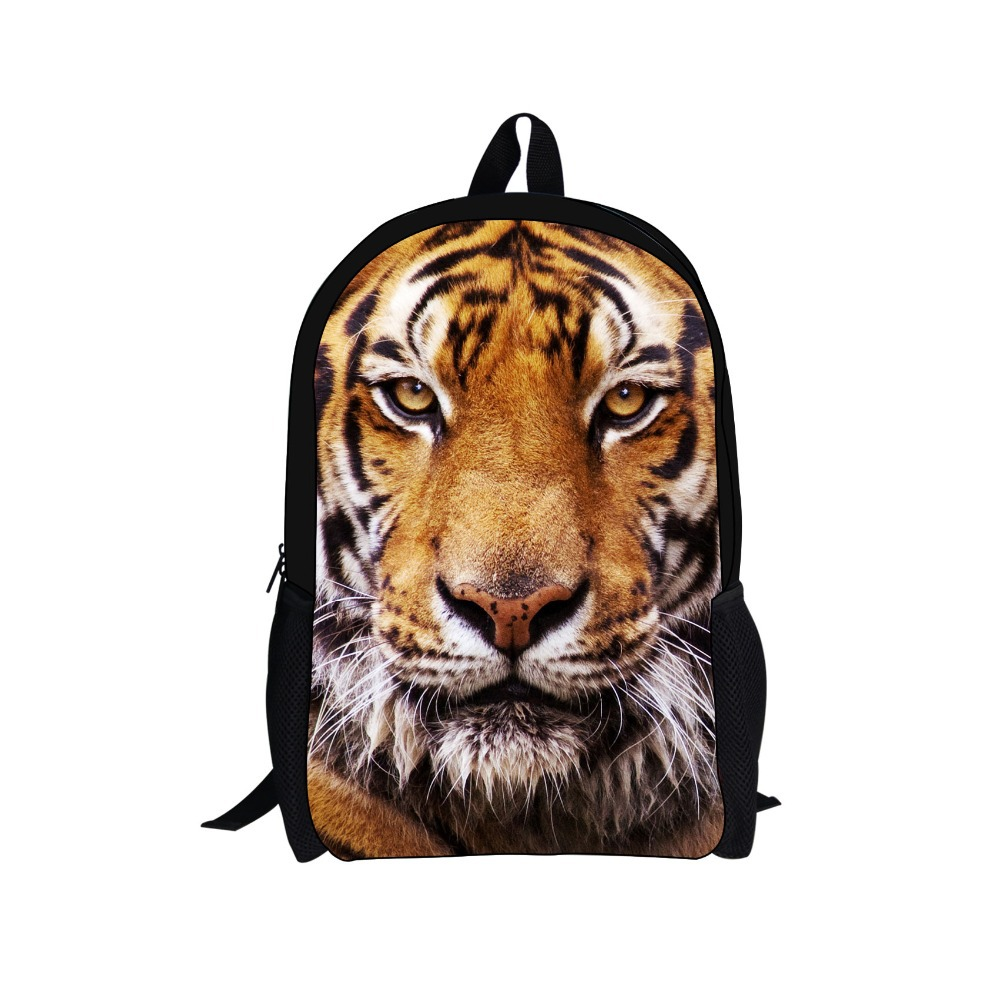 Hot Sale Tiger Children School Bag for Boys School Backpack New Teenagers Shoulder Bag School Men's Travel Bag Mochilas for Kid