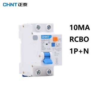 CHINT NXBLE-63Y 6A 10A 16A 32A 63A 10MA 0.01A RCBO 1P+N 230V Residual current Circuit breaker over current Leakage protection