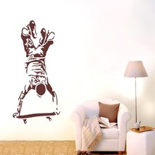 Free Shipping-Skateboard boy Sport Wall stickers Home Decal Removable Mural Vinyl Decor