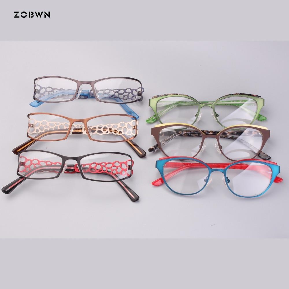 Groothandel Vrouwen Optische Glazen Groen Bruin Goud Eyewear Retro Metalen Vintage Bril Kat Brillen Dames Persoonlijkheid Benen Rillingen En Pijnen