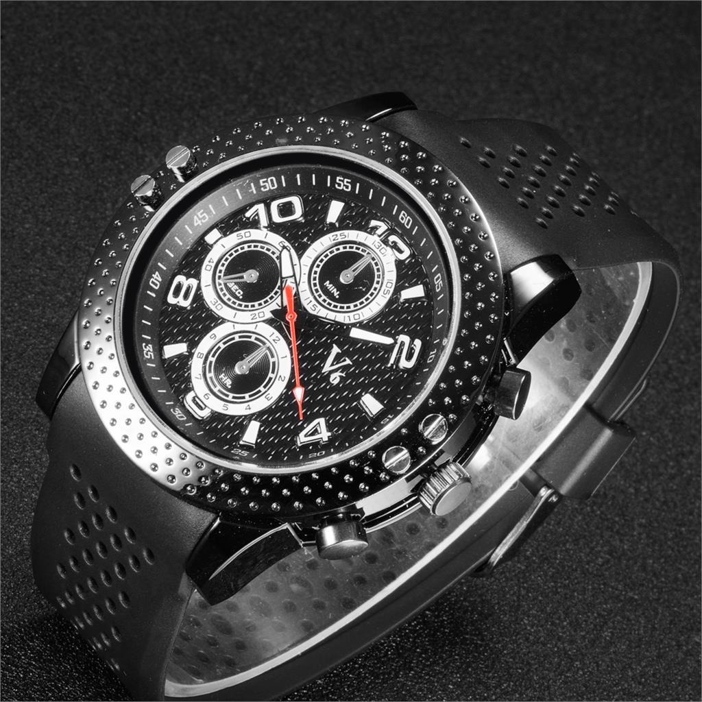 2017 fashion V6 watches men luxury brand analog sports watch Top quality silicone band quartz military watch relogio masculino free shipping sports fashion silicone quartz watch men v6 brand hours big face wrist watch c6428