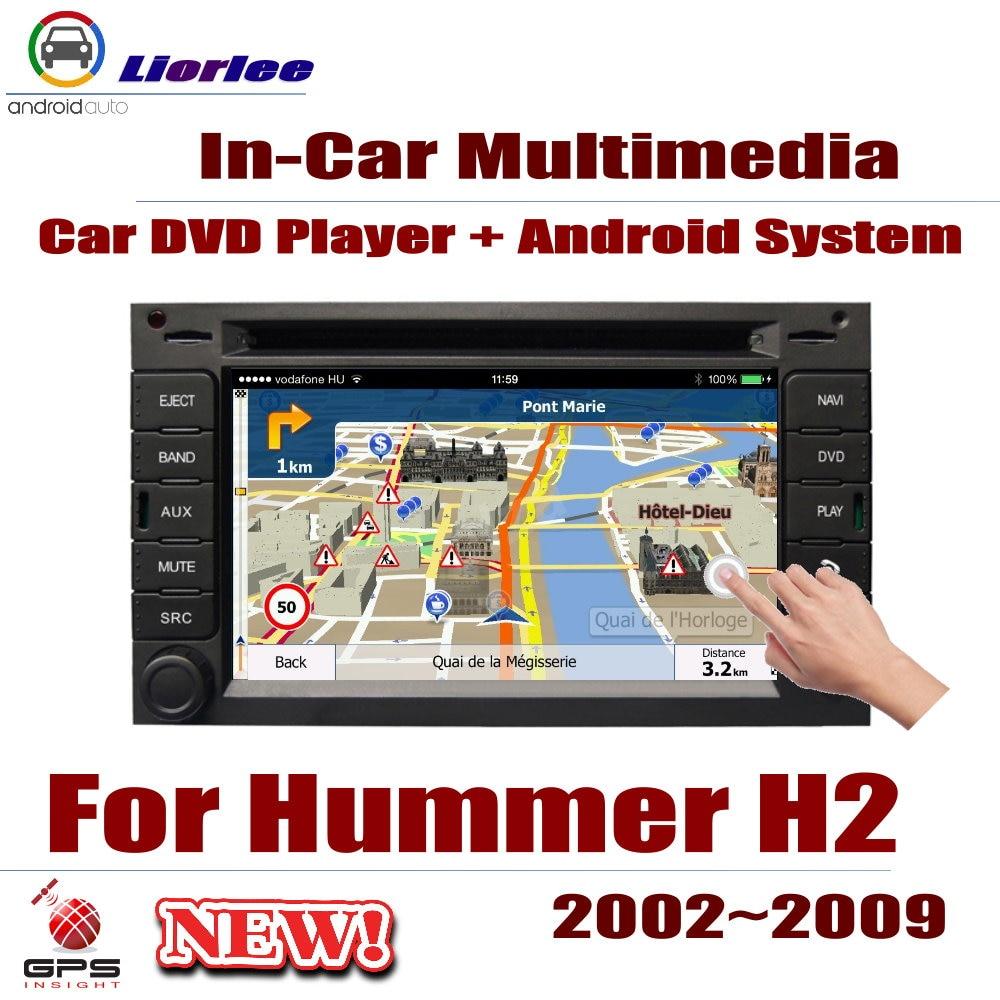 Auto Radio Lettore DVD di Navigazione GPS Per Hummer H2 2002 ~ 2009 Android HD Visualizzatore del Sistema Audio Video Stereo In dash Unità di Testa