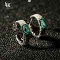 2016 Hot Brand 925 Sterling Silver Earrings For Women's Ladies Jewelry Coloured Glaze Round Stud Earrings CZ Diamond Earrings