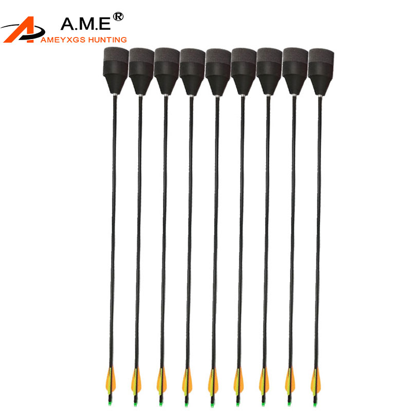 10pcs Archery Target Rubber Arrowhead Fiberglass Aluminum Arrows Sponge EV CS Game Bow Carbon Arrow Entertainment 5 Colors