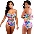Printed 2 Piece Set Woman Printed High Waisted Bikinis Beach Bathing Suit For Women Cropped Top And Shorts Sets