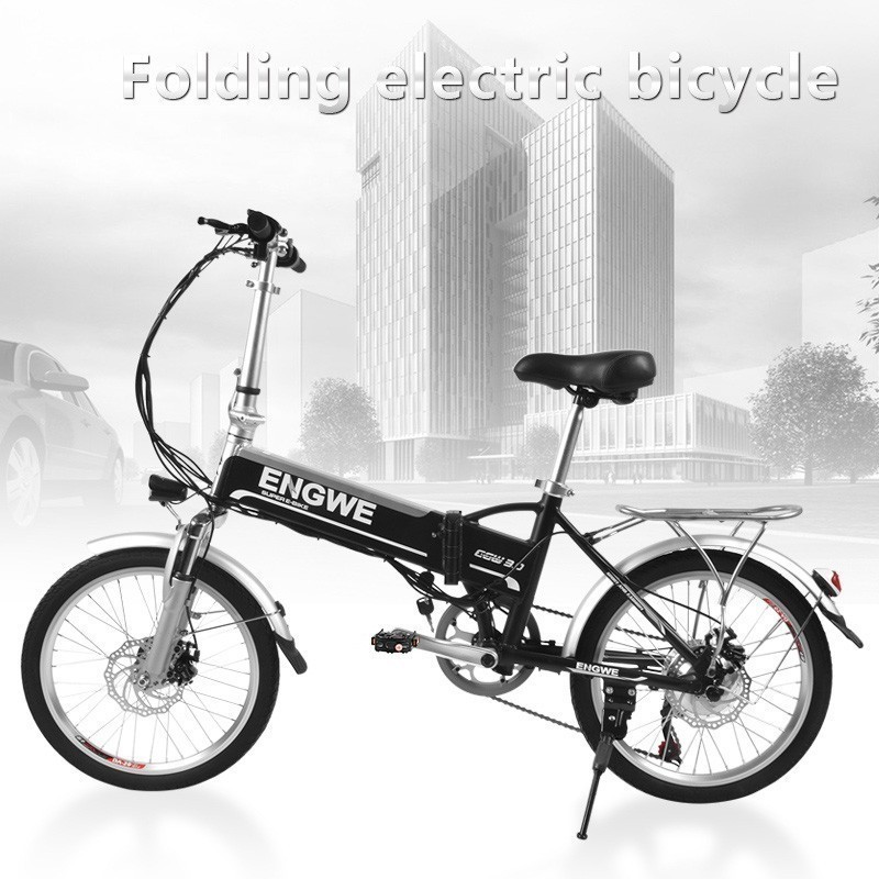 LOVELION 250W 48V 20inch Fat Tire ebike adult Electric Bike Folding Electric Bicycle Front Fork Suspension mechanical Disc Brake in Electric Bicycle from Sports Entertainment
