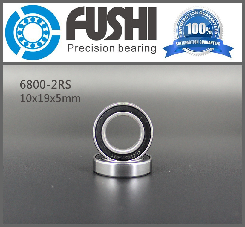 6800 2RS Bearing 10*19*5 mm ( 10 PCS ) ABEC-1 Metric Thin Section 61800RS 6800 RS Ball Bearings 6800RS 6819 2rs abec 1 95x120x13 metric thin section bearings 61819 rs 6819rs