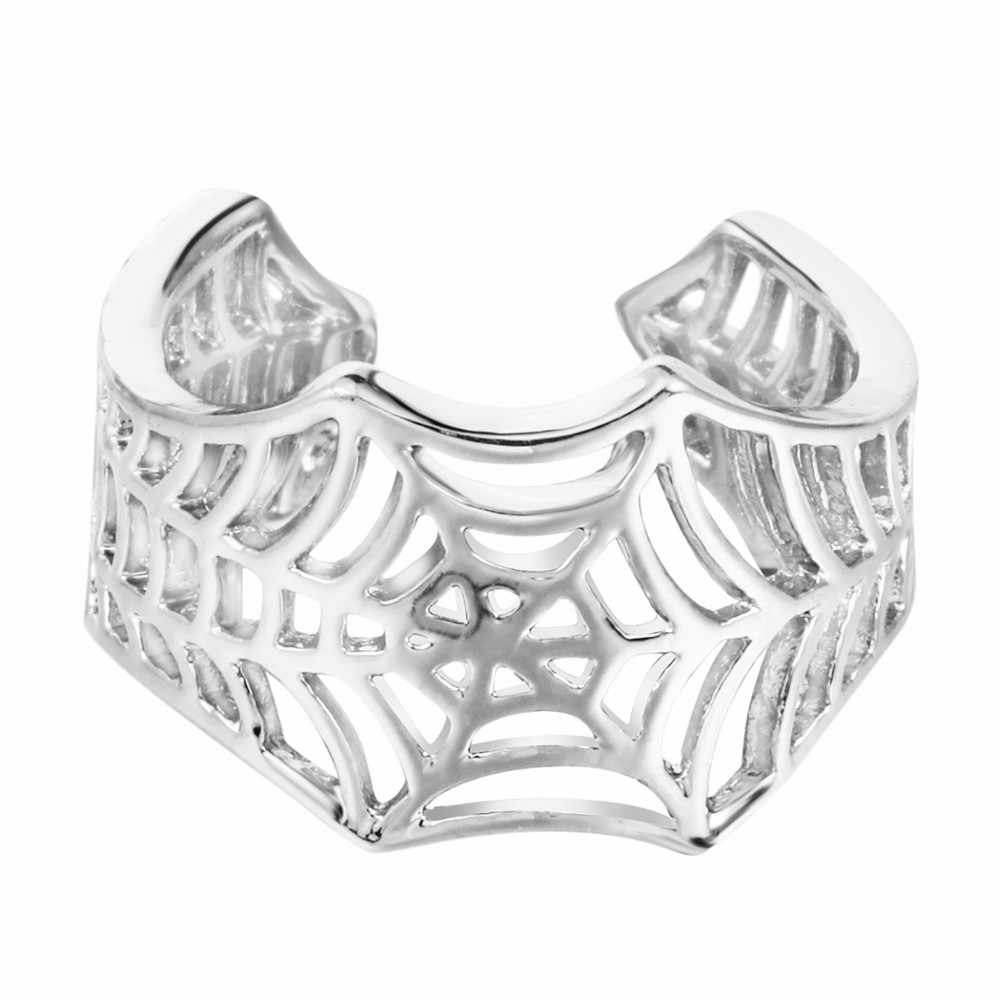 Kinitial Batman Rings Handmade Spider Web Animal Tail Puzzle Jewelry Open Adjustable Encircle Ring Wholesale Bijoux