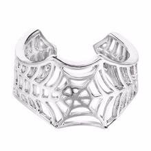 Kinitial bat anéis artesanal aranha web animal cauda quebra-cabeça jóias aberto ajustável encircle anel atacado bijoux