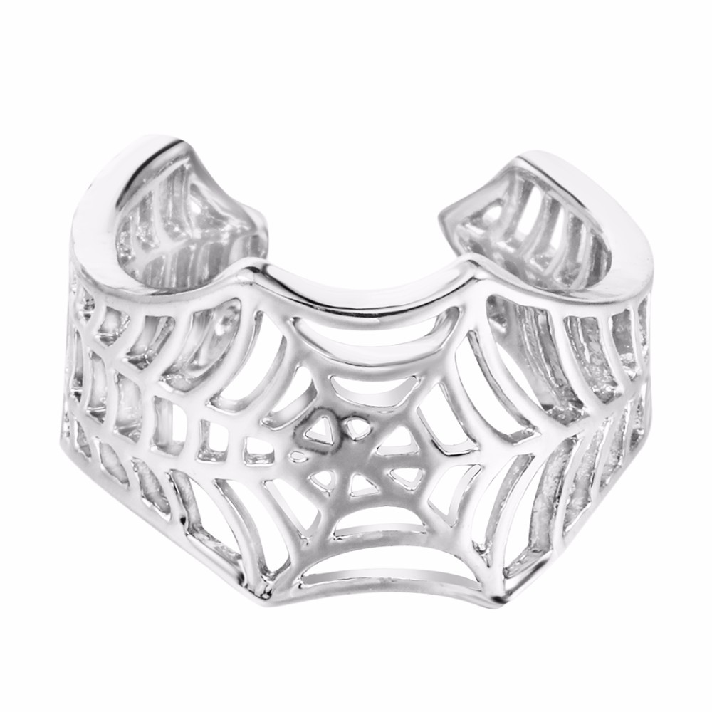 Kinitial Bat Rings Handmade Spider Web Animal Tail Puzzle Jewelry Open Adjustable Encircle Ring Wholesale Bijoux