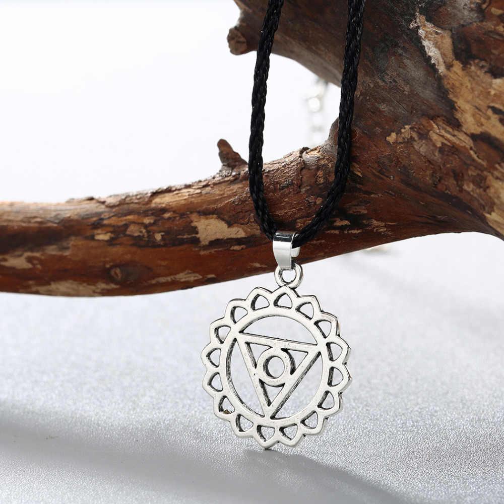 QIAMNI antyczne Punk krzyż gwiazda Amulet Pagan Valknut Viking słowiański Symbol talizman naszyjnik wisiorek mężczyzn biżuteria Party prezent urok