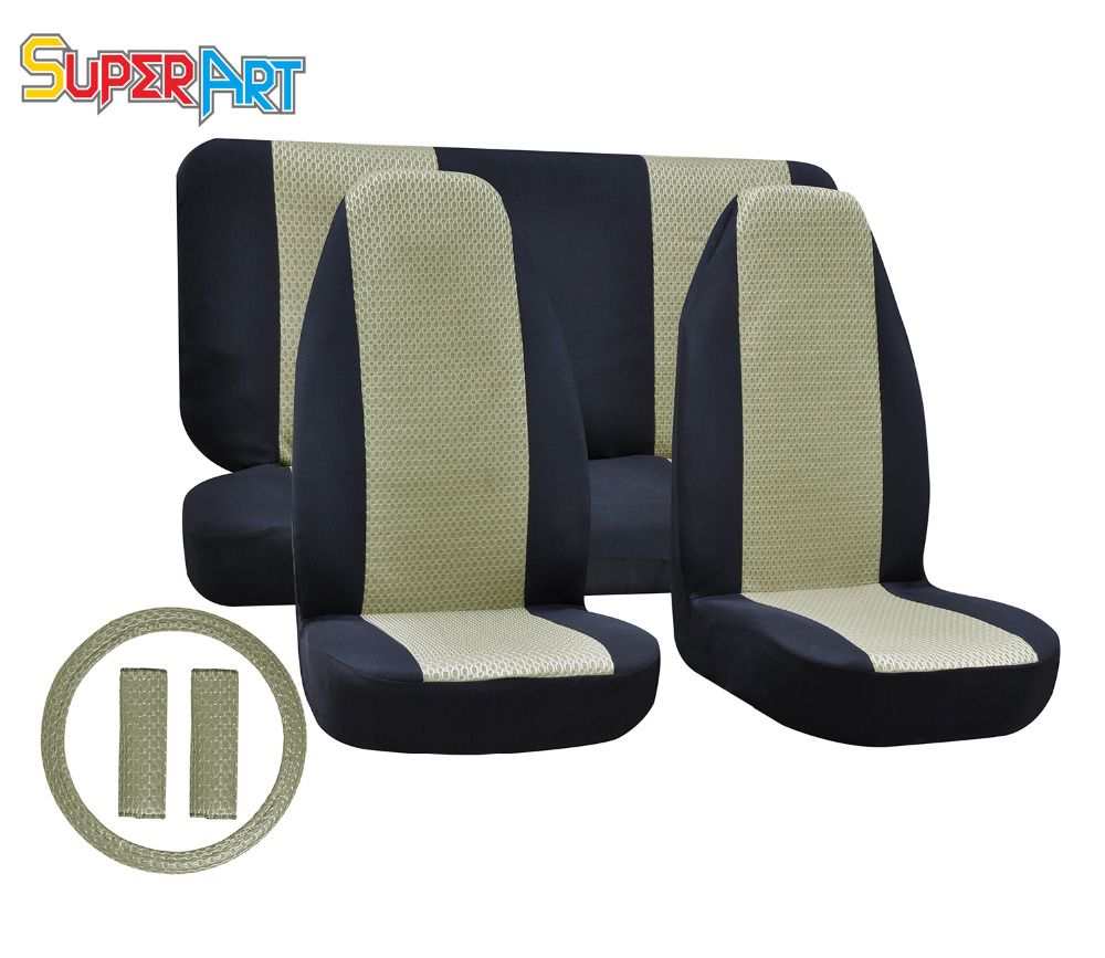 auto seat covers breathable car styling car seat covers front universal steering wheel black. Black Bedroom Furniture Sets. Home Design Ideas
