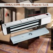 עבור בקרת גישה דלת אחת 12V חשמלי מגנטי אלקטרומגנטית נעילת 180KG (350LB) מחזיק כוח