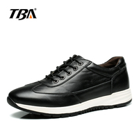 TBA Mens Running Shoe Trend Leather Strap Sneaker Outdoor Wear Resistant Anti Slip The Same Color