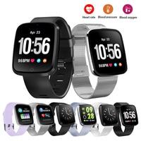 Fashion smart smart watch women top Pretty Silicon or stainless steel smart Strap waterproof woman watches Smart bracelet
