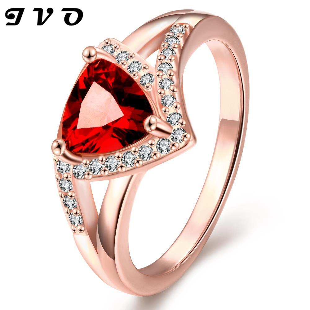 Wholesale rose gold color rings for women wedding jewelry ...