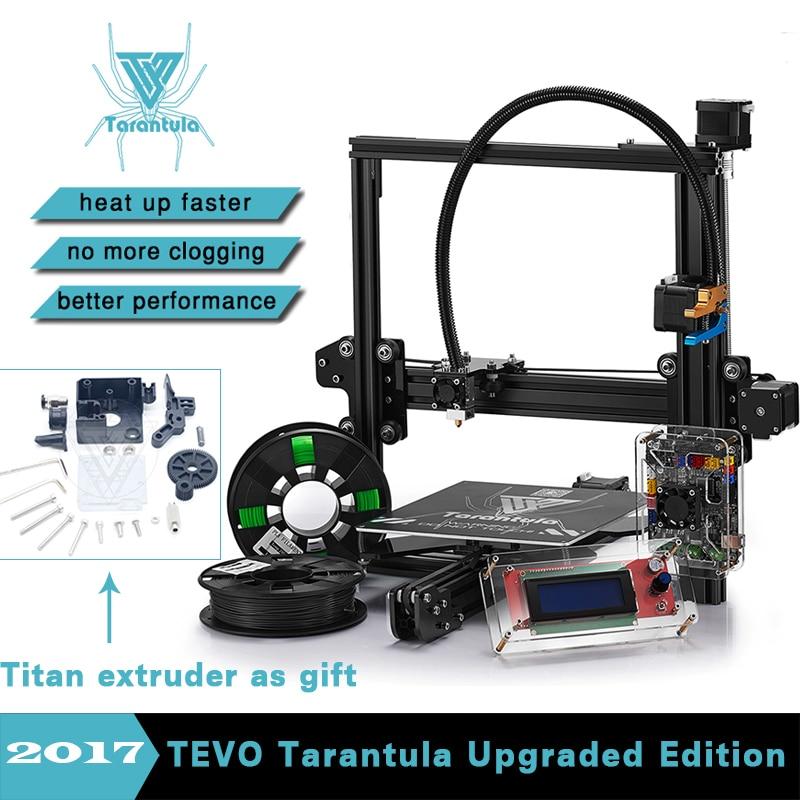 2017 Newest 3D Printer TEVO Tarantula Impresora 3D DIY With 2 Rolls Filaments SD Card Titan