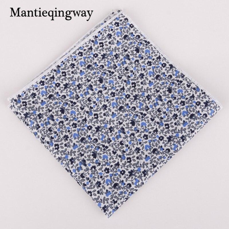 Mantieqingway New Arrival Cotton Floral Printed Handkerchiefs Pocket Mens Formal Business Wedding Pocket Square Women Hankies