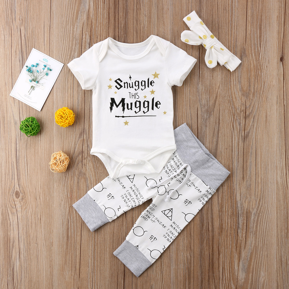 2d696f6a503 Newborn Baby Kids Boys Girls Cotton Romper Tops + Long Pants 2pcs Baby  Clothing Outfits Set-in Clothing Sets from Mother   Kids on Aliexpress.com