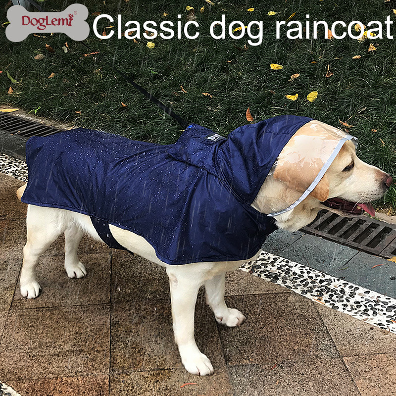 Clear Cap Raincoat For Dogs Waterproof Dog Coat Jacket Reflective Clothes Small Medium Large Golden Retriever Labrador Bulldog ...
